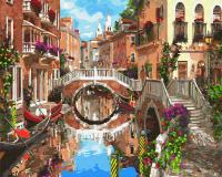 Картины по номерам 40х50 Мосты Венеции
