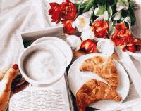 Картины по номерам 40х50 Завтрак с круассанами