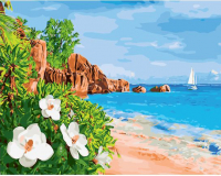Картины по номерам 40х50 Лазурный берег со скалами
