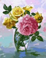 Картины по номерам 40х50 Цветочное настроение в хрустале